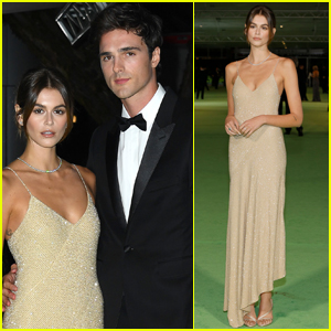 Kaia Gerber & Jacob Elordi Make Their Red Carpet Debut at Academy Museum of Motion Pictures Opening Gala