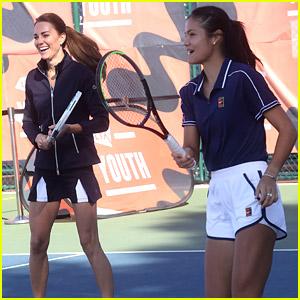 Kate Middleton Meets & Plays Tennis With US Open Champion Emma Raducanu