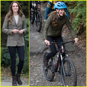 Kate Middleton Goes Mountain Biking During a Visit to Cumbria!