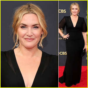 Nominee Kate Winslet Makes a Glam Arrival on the Emmys 2021 Red Carpet