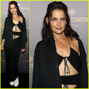 Katie Holmes Wears Cutout Look To Vacheron Constantin Opening During NYFW