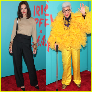 Katie Holmes Steps Out for Iris Apfel's 100th Birthday Party in NYC!