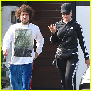 Katy Perry Meets Up With Benny Blanco At The Recording Studio
