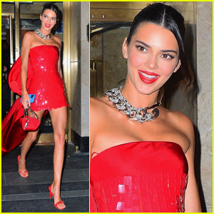 Kendall Jenner Goes Red Hot for Justin Bieber's Met Gala 2021 After-Party