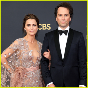 Keri Russell & Nominee Matthew Rhys Hit the Emmys 2021 Red Carpet
