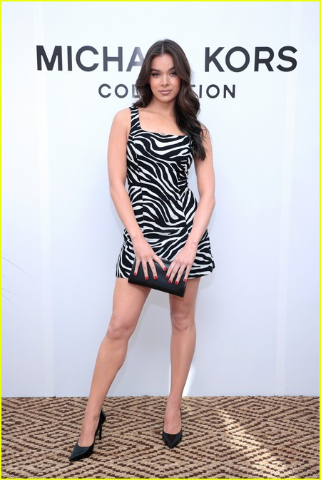 Hailee Steinfeld at the Michael Kors fashion show during NYFW 2021