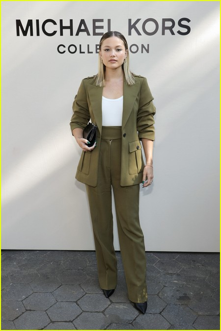 Olivia Holt at the Michael Kors fashion show during NYFW 2021