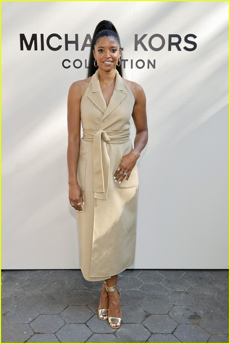 Renee Elise Goldsberry at the Michael Kors fashion show during NYFW 2021