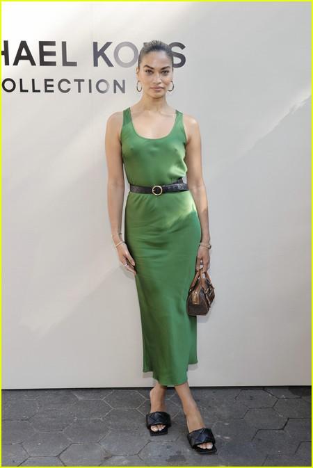 Shanina Shaik at the Michael Kors fashion show during NYFW 2021