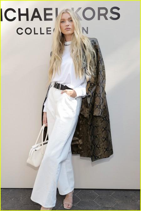 Elsa Hosk at the Michael Kors fashion show during NYFW 2021