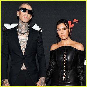 Kourtney Kardashian & Travis Barker Make Red Carpet Debut at MTV VMAs 2021 - See Photos!
