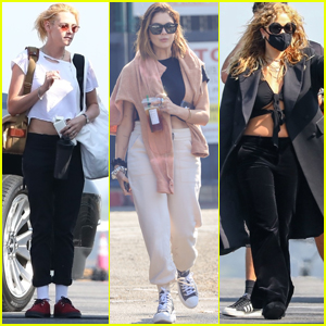 Kristen Stewart, Ashley Benson, & Rita Ora Board Jet for Flight to NYC for Fashion Week