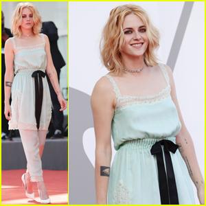 Kristen Stewart Hits the Venice Film Festival Red Carpet for the Premiere of 'Spencer'