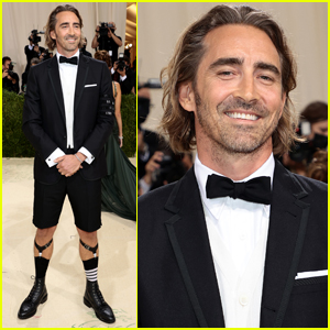 Lee Pace Rocks Shorts on the Red Carpet at Met Gala 2021