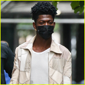 Lil Nas X Grabs an Early Dinner with a Friend in NYC