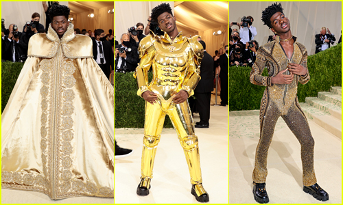 Lil Nas X Wears 3 Different Outfits on Met Gala 2021 Red Carpet - See Every Look!