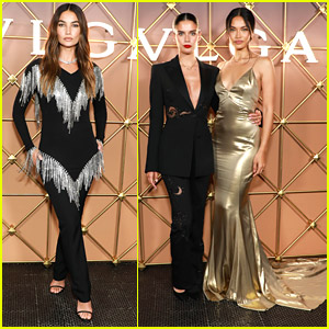Lily Aldridge, Shanina Shaik & More Stun at Bulgari's B.zero1 NYFW Party