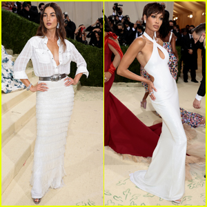 Lily Aldridge & Joan Smalls Coordinate in White Outfits at Met Gala 2021