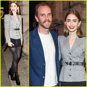 Lily Collins & Charlie McDowell Attend First Public Event Since Getting Married
