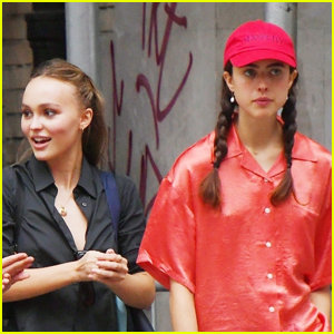 Lily-Rose Depp & Margaret Qualley Meet Up for Lunch in NYC!