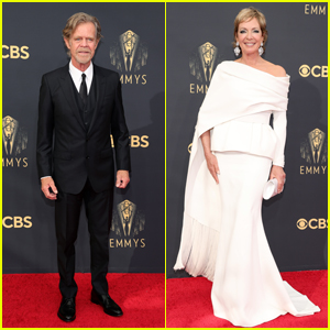 Comedy Nominees William H. Macy & Allison Janney Arrive at Emmys 2021