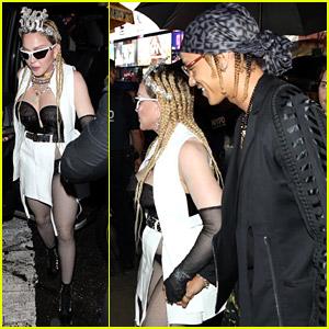 Madonna Brings Boyfriend Ahlamalik Williams & Son Rocco Ritchie To 'Madame X' Film Premiere in NYC