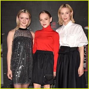 Maisie Williams, Shira Haas & Sarah Gadon Sit Front Row For Prada's Fashion Show in Milan