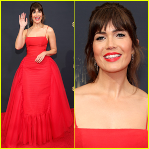 Mandy Moore is a Vision in Red at Emmy Awards 2021