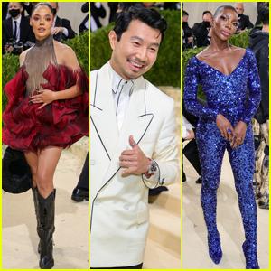 Marvel's Tessa Thompson, Simu Liu & Michaela Coel Hit the Met Gala 2021 Carpet