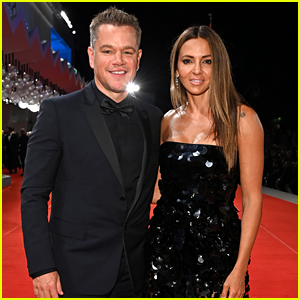 Matt Damon Walks the Venice Red Carpet with Wife Luciana at 'The Last Duel' Premiere
