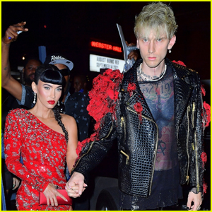 Megan Fox is Joined by Boyfriend Machine Gun Kelly for Met Gala 2021 After-Party in NYC