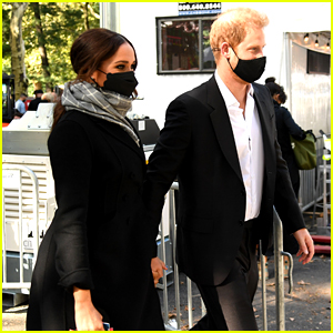 Meghan Markle & Prince Harry Spotted Arriving in NYC's Central Park for Global Citizen Concert