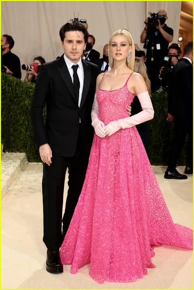 Brooklyn Beckham and Nicola Peltz on the Met Gala 2021 Red Carpet