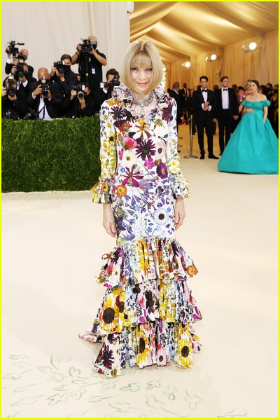 Anna Wintour on the Met Gala 2021 Red Carpet