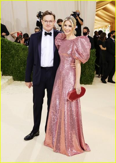 Charles Shaffer and Elizabeth Shaffer on the Met Gala 2021 Red Carpet