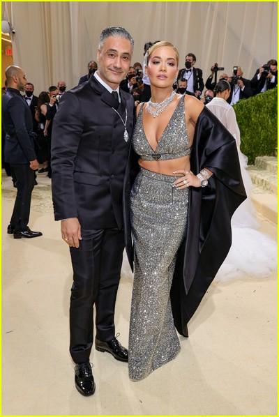 Rita Ora and Taika Waititi on the Met Gala 2021 Red Carpet