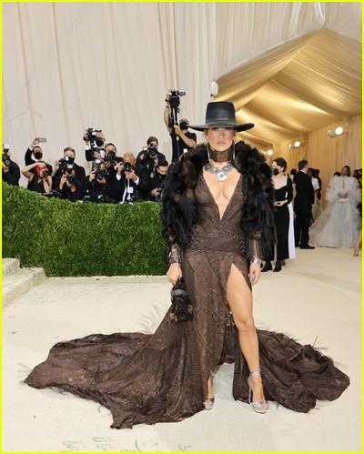 Jennifer Lopez on the Met Gala 2021 Red Carpet