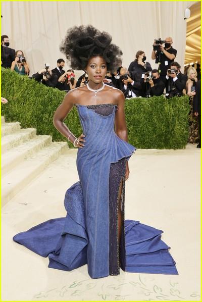 Lupita Nyong'o on the Met Gala 2021 Red Carpet