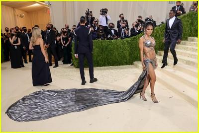 Teyana Taylor on the Met Gala 2021 Red Carpet