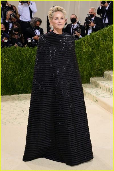 Sharon Stone on the Met Gala 2021 Red Carpet