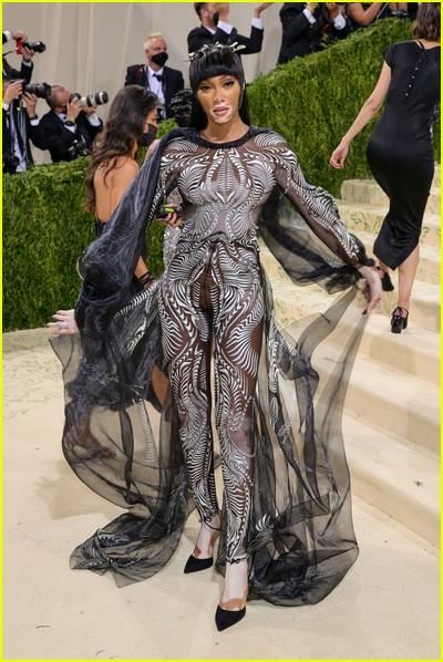 Winnie Harlow on the Met Gala 2021 Red Carpet