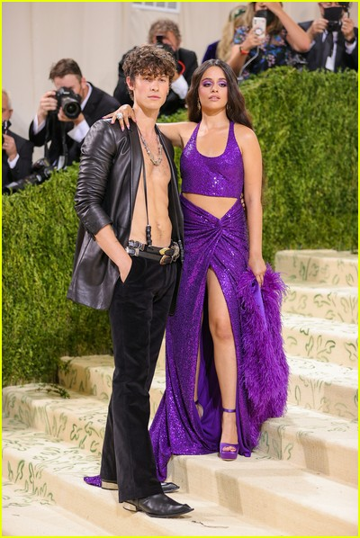 Shawn Mendes and Camila Cabello on the Met Gala 2021 Red Carpet