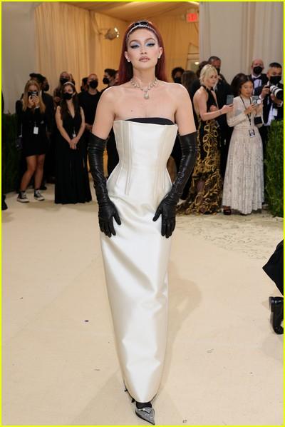 Gigi Hadid on the Met Gala 2021 Red Carpet