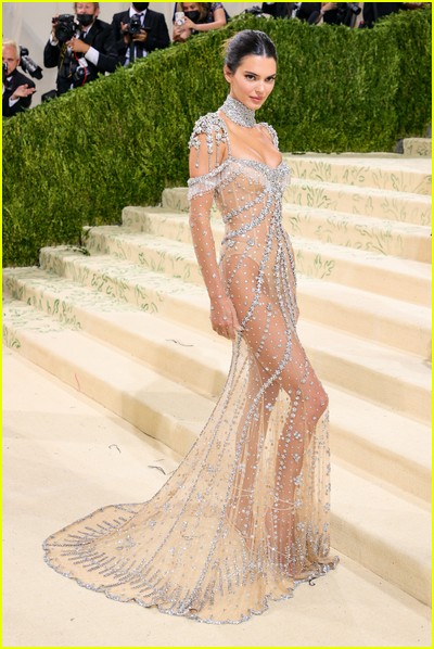 Kendall Jenner on the Met Gala 2021 Red Carpet