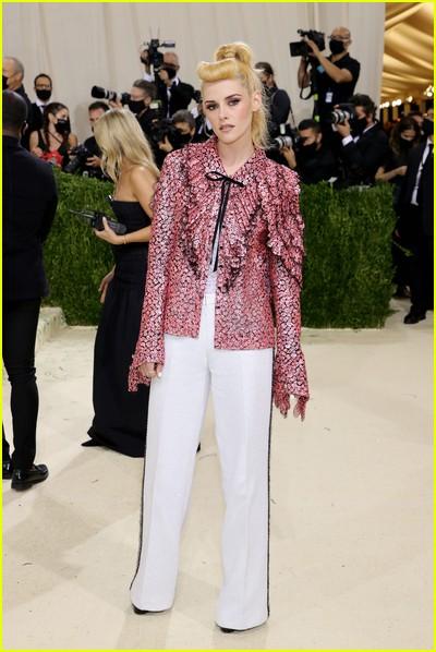 Kristen Stewart on the Met Gala 2021 Red Carpet
