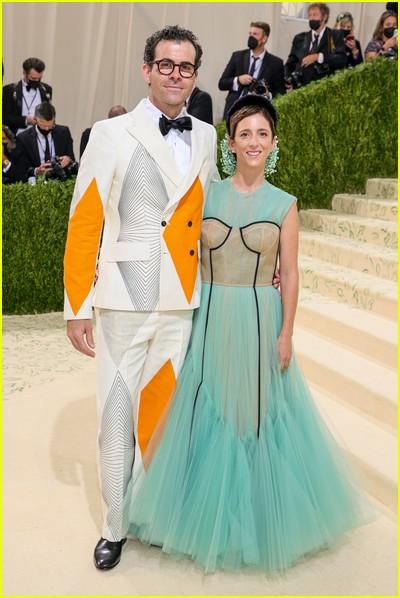 Adam Mosserri and Monica Mosseri on the Met Gala 2021 Red Carpet