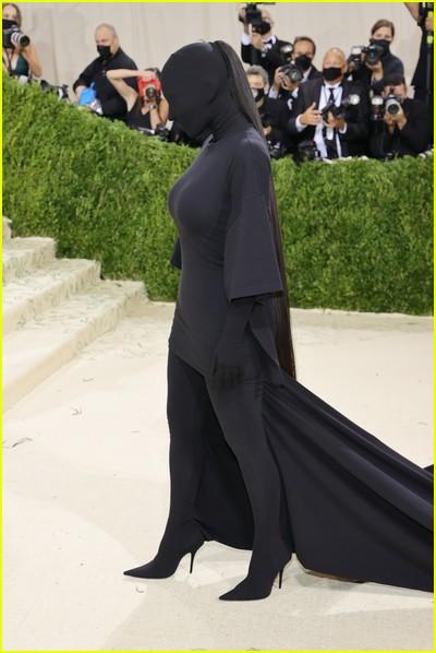 Kim Kardashian on the Met Gala 2021 Red Carpet