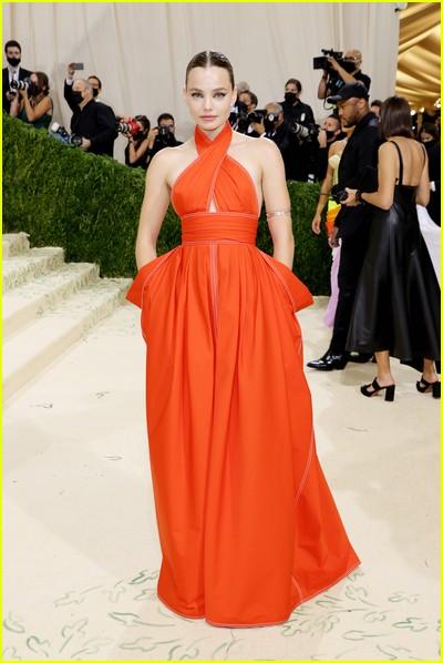 Kristine Froseth on the Met Gala 2021 Red Carpet
