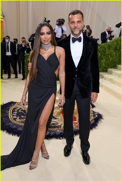 Anitta with designer Alexandre Birman on the Met Gala 2021 Red Carpet
