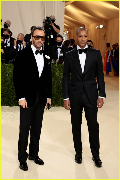 Designers Tom Ford and Heron Preston on the Met Gala 2021 Red Carpet